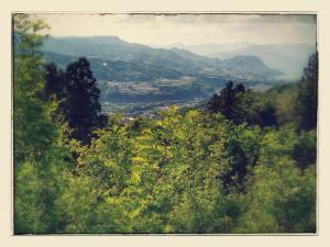 赤城高原SA上りからの風景